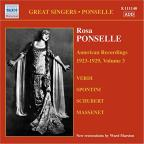 Rosa Ponselle, Vol. 3: American Recordings