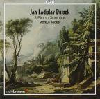 Jan Ladislav Dussek: 3 Piano Sonatas