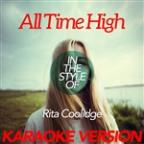 All Time High (In The Style Of Rita Coolidge) [karaoke Version] - Single