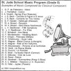 St. Jude School Music Program (Grade 5)