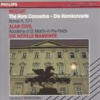 Mozart: Horn Concertos, Rondo in Eb K 371 / Civil, Marriner