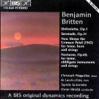 Benjamin Britten: Sinfonietta Op. 1; Serenade Op. 31; Now Sleeps the Crimson Petal; Nocturne