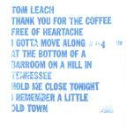7 Song Tape/Thank You For The Coffee