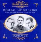 Bjorling, Caruso & Gigli: Three Legendary Tenors in Opera and Song