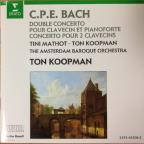 CPE Bach: Concerti for 2 Harpsichords / Koopman, Mathot