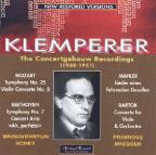 Klemperer: The Concertgebouw Recordings, 1948-1951 - Mozart, Mahler, Beethoven, Bartok