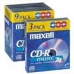 Cdr-74 9 Pack Color Recordable CD
