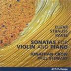 Sonatas for Violin & Piano by Elgar, Strauss & Ravel