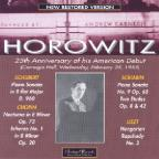 Horowitz: 25th Anniversay of his American Debut