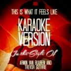 This Is What It Feels Like (In The Style Of Armin Van Buuren And Trevor Guthrie) [karaoke Version] - Single