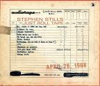 Just Roll Tape: April 26th, 1968