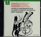 Milhaud, Honegger, Hoddinott: Cello Concerti / Rostropovich