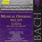 Musical Offering BWV 1079 133, Cannons BWV 1072-78