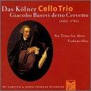Cervetto: Six Trios for 3 Cellos / Kölner Cello Trio