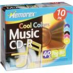 "CD-R - 700MB, 10 Pack Slim ""Cool Colors"""