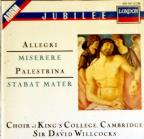 Allegri: Miserere;  Palestrina: Stabat Mater, etc /Willcocks