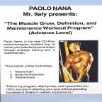 Muscle Grow Definiton & Maintenance Workout Progra