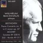 Wilhelm Backhaus Plays Beethoven Piano Concerto No. 3, Mozart Sonatas