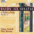 Haydn: Six Sonatas for Violin & Viola, Hob. VI: 1-6