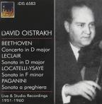 David Oistrakh plays Beethoven, Leclair & Paganini