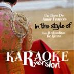 Un Poco De Amor Francés (In The Style Of Los Redonditos De Ricota) [karaoke Version] - Single