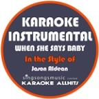 When She Says Baby (In The Style Of Jason Aldean) [karaoke Instrumental Version] - Single