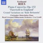 Ries: Piano Concertos Vol 3: Farewell to England