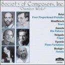 Society Of Composers, Inc. - Chamber Works - Belet, Et Al