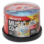 "CD-R - 700MB, 25 Pack Spindle ""Cool Colors"""