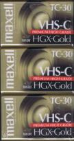 Hgx Gold Tc-30 3 Pack VHS-C