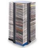 CD Storage Rack - 160 Disc Capacity, Spinning