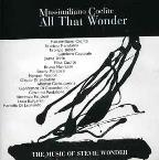 All That Wonder (Music Of St