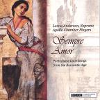 Sempre Amor: Portuguese Love Songs from the Romantic Era