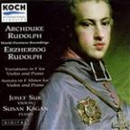 Archduke Rudolph: Variations for Violin, Sonata / Suk, Kagan