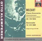 Klemperer Edition- Mozart: Piano Concerto no 25, Serenade