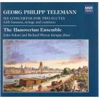 Georg Philipp Telemann: Six Concertos for Two Flutes with bassoon, strings and continuo