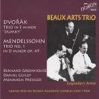 "Dvorak: Trio in E minor ""Dumky""; Mendelssohn: Trio No. 1 in D minor, Op. 49"