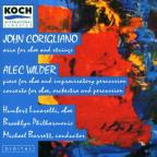 John Corigliano: Aria for oboe & strings; Alec Wilder: Piece for oboe & improvisatory percussion