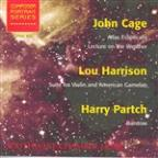 John Cage: Atlas Eclipticalis; Lou Harrison: Suite for Violin and American Gamelan; Harry Partch: Barstow