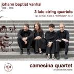 Johann Baptist Vanhal: 3 Late String Quartets