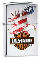 Harley-Davidson Flag Eagle High Polish Chrome