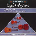 Paganini: Quartets Nos. 3, 7, 14 for Violin, Viola, Guitar & Cello