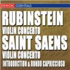 Rubinstein: Violin Concertos - St. Saens: Vioin Concerto 3 & Introduction and Rondo Capriccioso