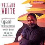 American Spirituals; Folk-songs from Barbados; Copland: Old American Songs I & II