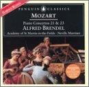 Mozart: Piano Concertos no 21 & 23 / Brendel, Marriner