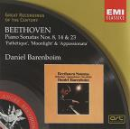 Beethoven: Piano Sonatas Nos. 8, 14 & 23 'Pathetique', 'Moonlight', Appassionata'