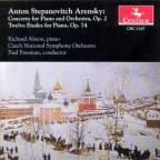 Arensky: Piano Concerto, Op. 2; Twelve Etudes for Piano, Op. 74