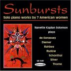 Sunbursts - Solo piano works by 7 American women / Solomon
