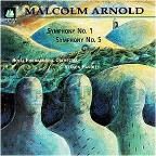 Arnold: Symphony no 1 & 5 / Handley, Royal PO