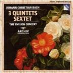JC Bach: 3 Quintets, Sextet / Pinnock, English Concert